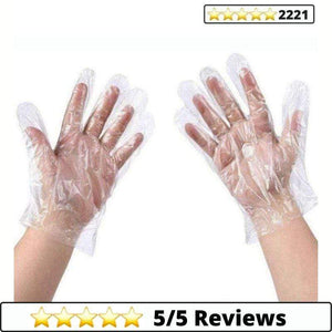 Make-trends.com 100 Pcs Pack Plastic Disposable Gloves