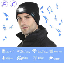 Load image into Gallery viewer, Make-trends.com Bluetooth Beanie Hat with Light Bluetooth Beanie Hat with Light, Upgraded Musical Knitted Cap