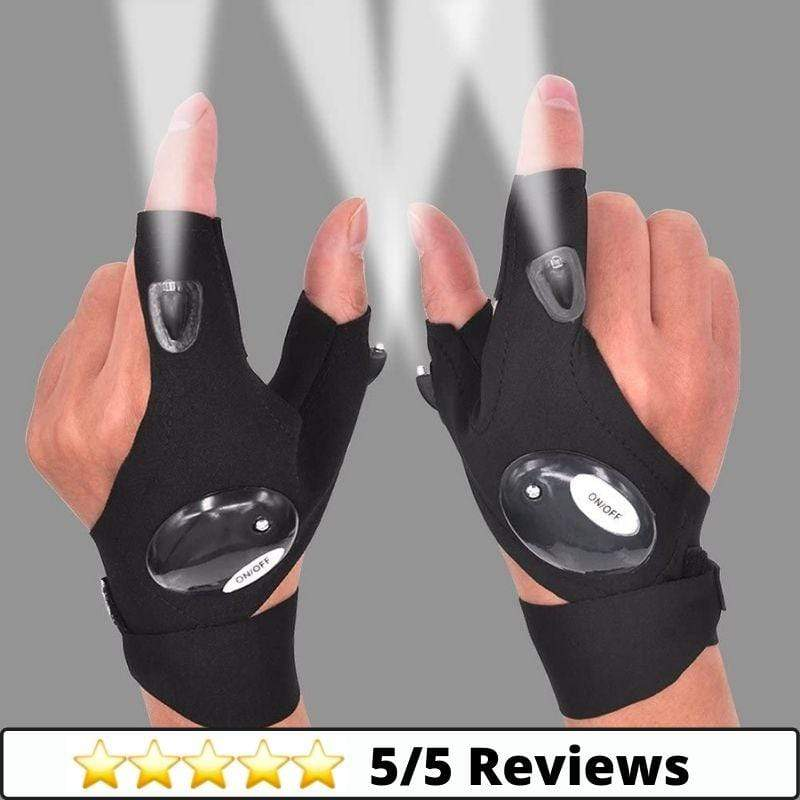 Make-trends.com Light Gloves Light Gloves, Flashlight Gloves, LED Light Gloves, (1 Pair)