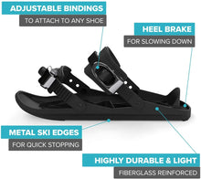 Load image into Gallery viewer, Make-trends.com Mini Ski Skates for Snow Short Skiboard Snowblades Skiing Mini Sled Snowboard