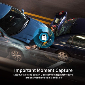 Make-trends.com Mirror Dash Cam for Cars with Full Touch Screen, Backup Camera Rear View Mirror Camera