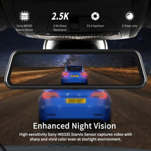 Load image into Gallery viewer, Make-trends.com Mirror Dash Cam for Cars with Full Touch Screen, Backup Camera Rear View Mirror Camera