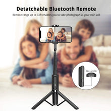 Load image into Gallery viewer, Make-trends.com Selfie Stick Tripod, Extendable Selfie Stick with Bluetooth Remote