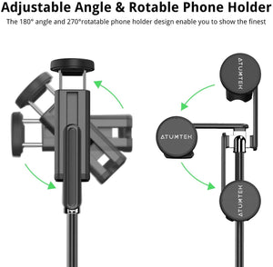 Make-trends.com Selfie Stick Tripod, Extendable Selfie Stick with Bluetooth Remote