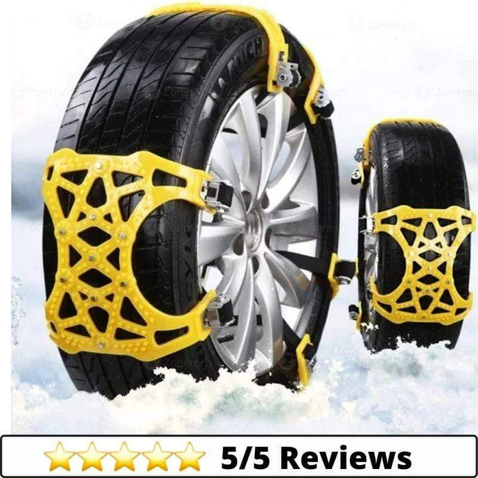 Make-trends.com Snow Chains Car Snow Chains, 6 Pcs Emergency Anti Slip Tire Traction Chains, Chains for Tires