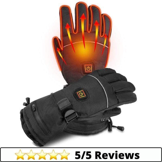 Make-trends.com XS Battery Heated Gloves - 3 Heating Levels Touchscreen Ski Gloves Men & Women