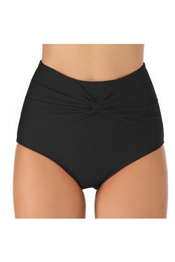 Solid Color Reverse Front Plus Size Swimwear Panty