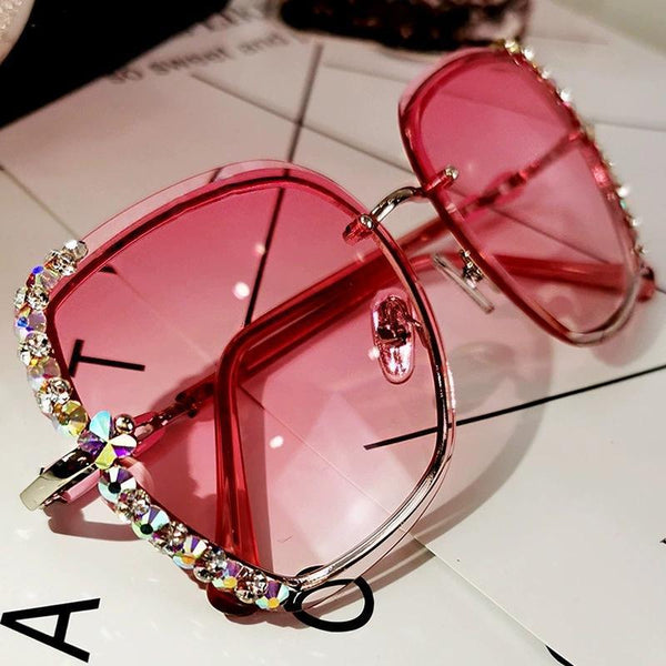 5 Colors Diamond Edge Square Frame Sunglasses