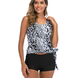 Tie Side Loose Style High Waisted Tankini Set