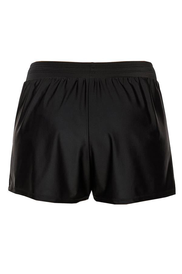 Drawstring Waist Solid Color Swim Shorts