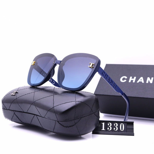 5 Color Fashion Letter Carved Polarized Sunglasses