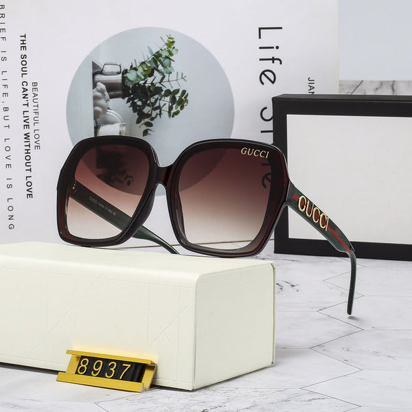 4 Colors Fashion Hollow Letter Frame Sunglasses