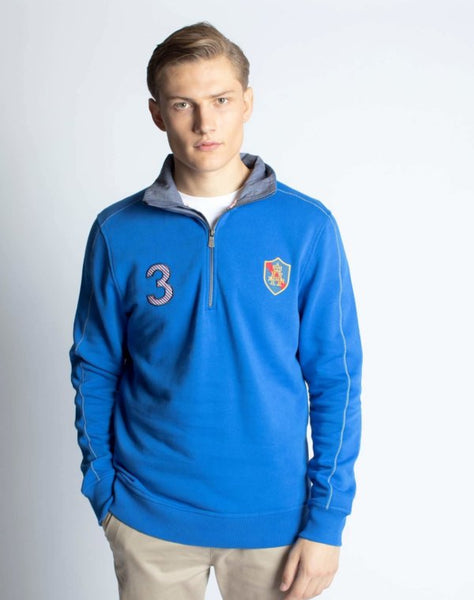 Hurlingham Collared Sweatshirt
