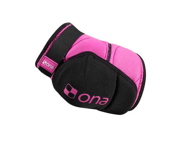 Ona Black and Magenta Elbow Pads