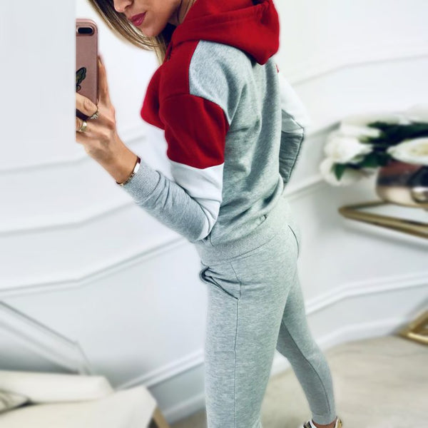 Plus Size Casual Tracksuit Lounge Wear Women Two Piece Set Sweatpants Autumn Ladies Clothes 2pcs Conjunto Deportivo Mujer