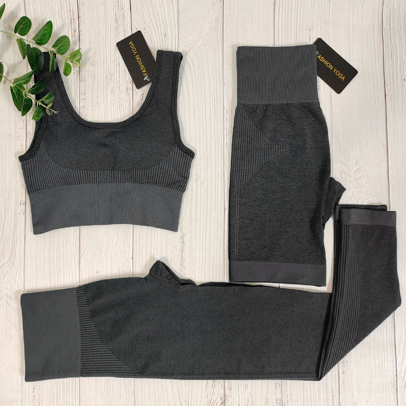 Seamless Yoga Set Women Sports Bra High Waist Legging Fitness Suit Gym Clothing Running Sportswear Workout Clothes Sports Suits