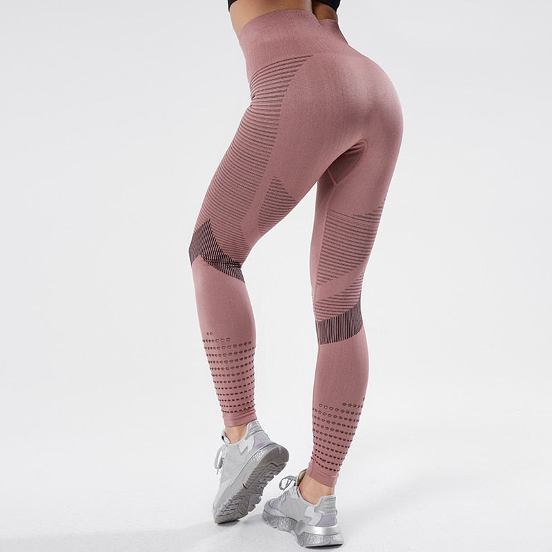 NORMOV Leggings For Fitness Seamless Leggings High Waist Yoga Pants Fitness Women Workout BreathableTights Training Pants 2019