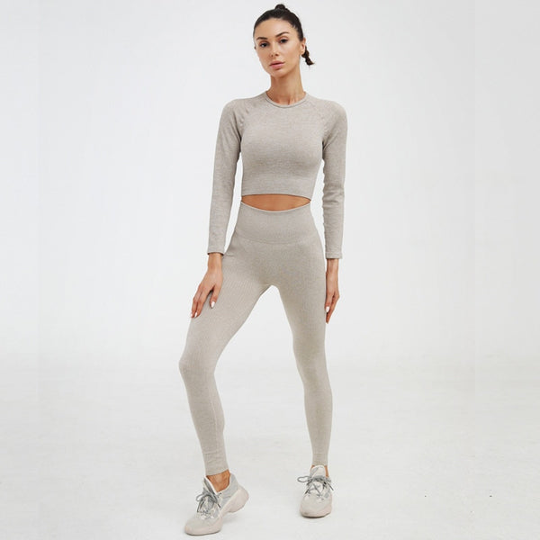 2 Piece Women Sports Set Workout Clothes Tracksuit Women Sports Bra Leggings Set Female Gym Clothing Suits Athletic Sets