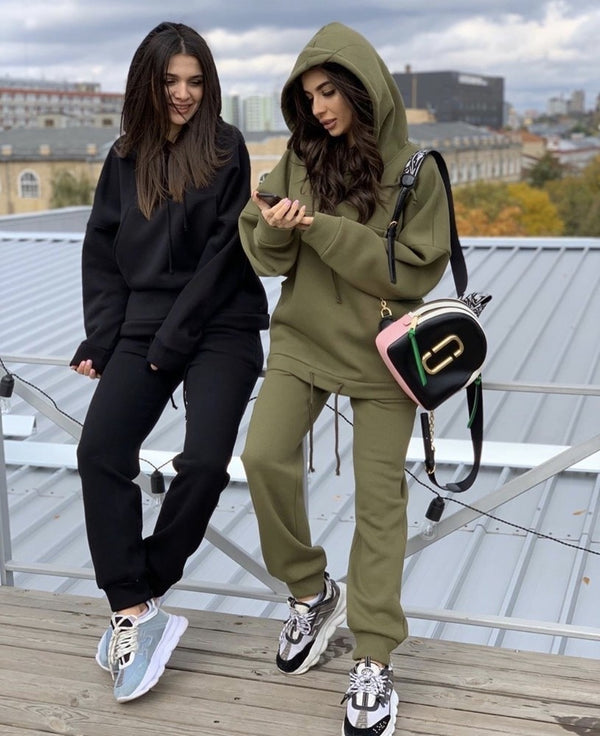 Women Two Piece Set Outfits Autumn Winter Womens Tracksuit Oversized Hoodie And Pants Casual Sport Jogger Suit 2 Piece Woman Set