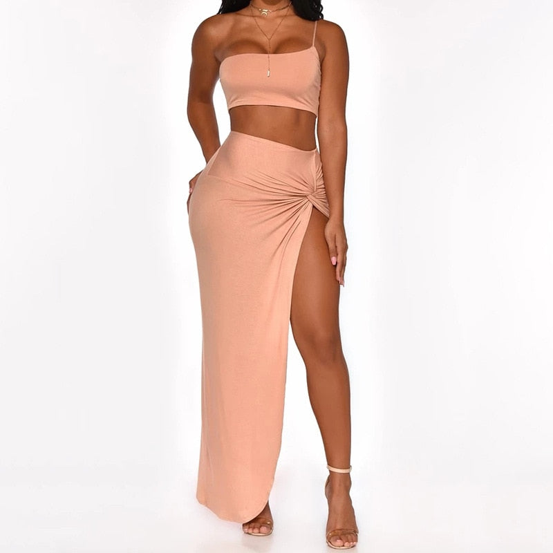 Tobinoone NightClub Summer Dress 2020 One Shoulder Mini Party Dress Backless Side Split Wrap Bodycon Sexy Dresses Women Clothes