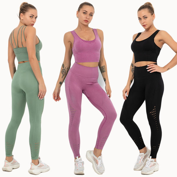 Fitness Clothing Set Seamless Sports Suit Gym Yoga Set Women Running Sports Bra Set Workout Sportswear Yoga Outfit For Woman