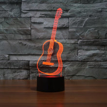 Load image into Gallery viewer, Creative 3D Visual guitar Model Illusion Lamp