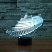 Load image into Gallery viewer, 3D Led Cruise Yacht Desk Lamp