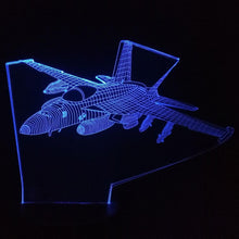 Load image into Gallery viewer, 3D Aircraft Bedside Led Light