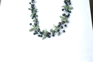Forest Green Woven Necklace