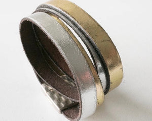 Double Wrap 20 mm Leather Cuff