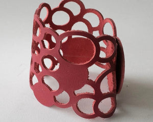 Leather Cuff with Circles