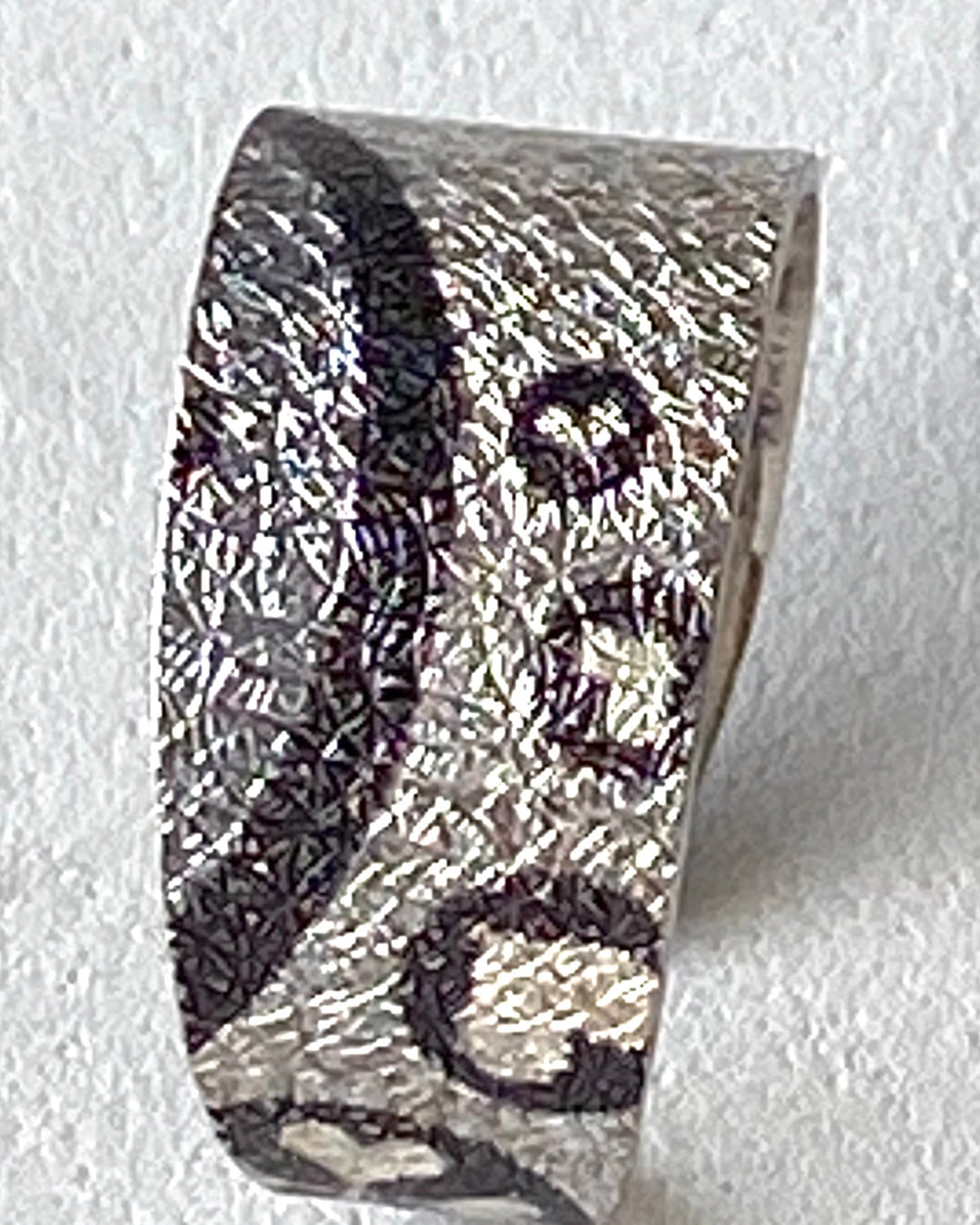 Sterling Silver Printed Ring