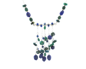 Lapis and Chrysocolla Pendant Necklace