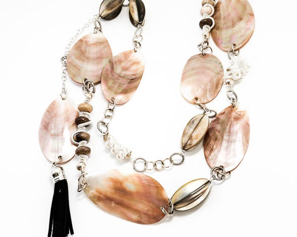 Mother of Pearl Necklace Belt