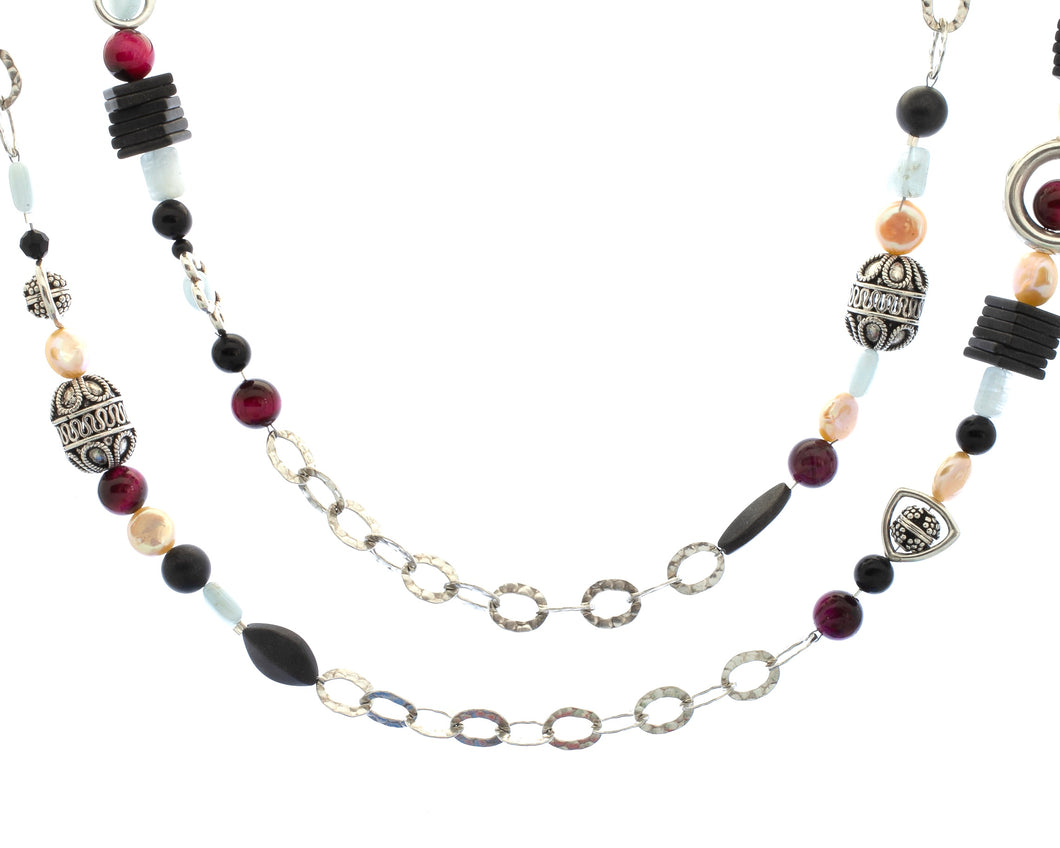 Mixed Media Necklace by Pret-A-Porter Jewels