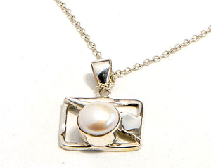 Mabe Fresh Water Pearl and Sterling Silver Pendant