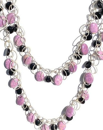 New Neutral: Black and Purple Necklace