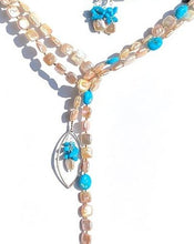 Load image into Gallery viewer, Love Your Lariat: Peaches and Cream Square Pearls