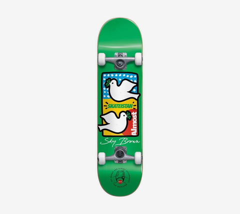 Almost Sky Brown Double Doves Skateistan First Push Complete Green 7.5