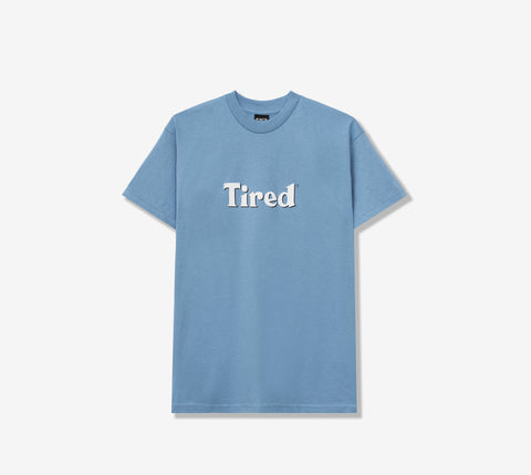 TIRED BLOODY TIRED SS TEE DUSTY BLUE