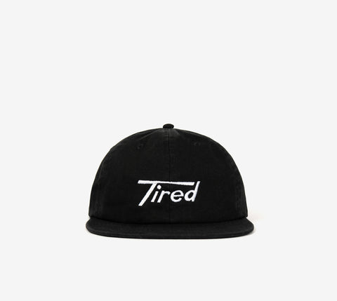 TIRED LONG T LOGO CAP BLACK