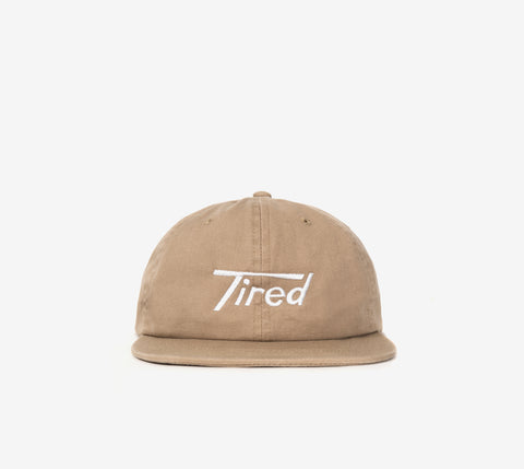TIRED LONG T LOGO CAP KHAKI