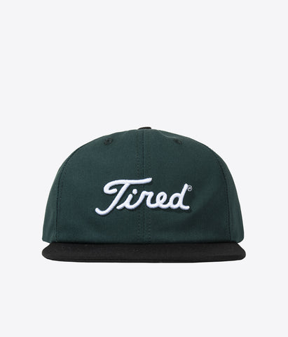 Tired Golf Logo Cap Green Black