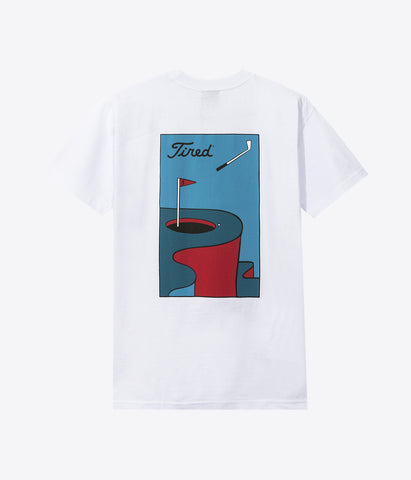 Tired Golf S/S Tee White