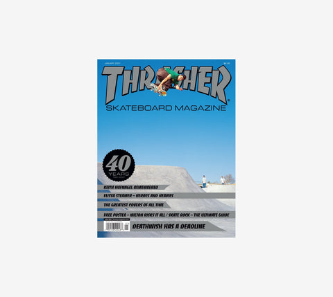 Thrasher Mag 40th Anniversary Jan21 Issue #486