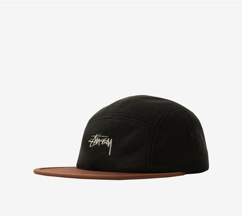 Stussy Fleece Nylon Mix Camp Cap Black