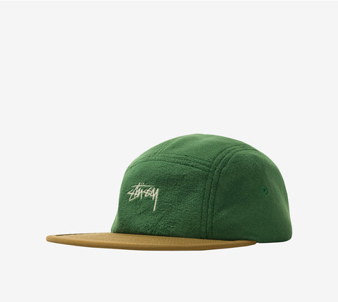 Stussy Fleece Nylon Mix Camp Cap Green