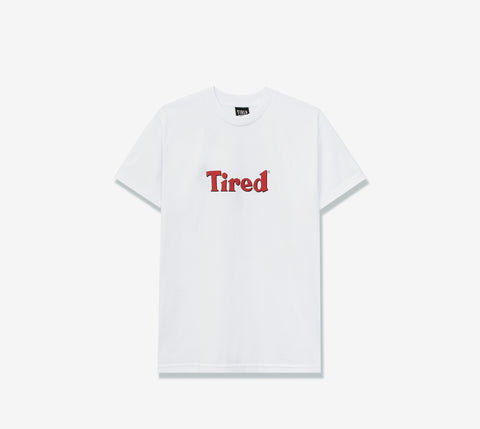 TIRED BLOODY TIRED SS TEE WHITE