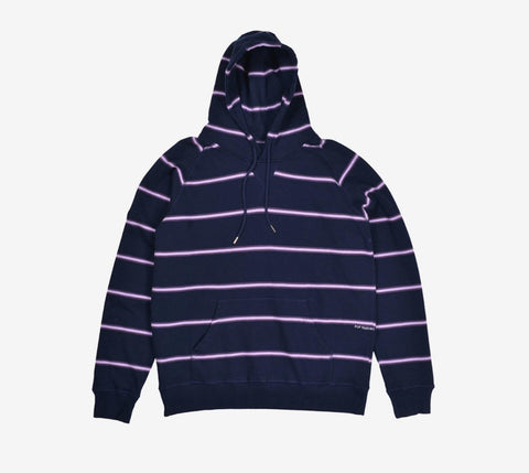 Pop Striped Hooded Sweat