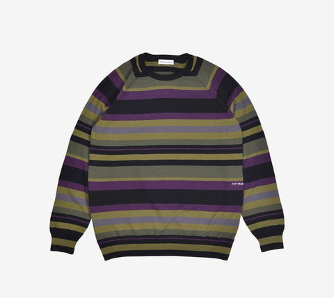 Pop Striped Knitted Crewneck - Ben-G skateshop